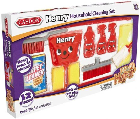 Casdon - HENRY HOUSEHOLD CLEANING SET - Real Life Fun & Play - NEW